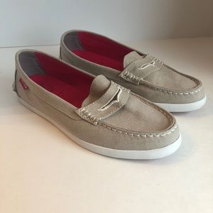 Nude colored canvas Cole Haan Loafers. 💕